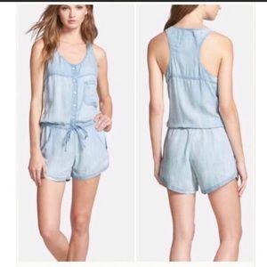 Rails | Chambray Lily Tencel Shorts Romper S